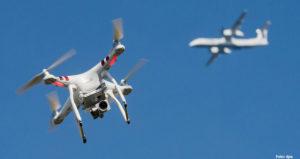 Drohnen-Zusammenstoss