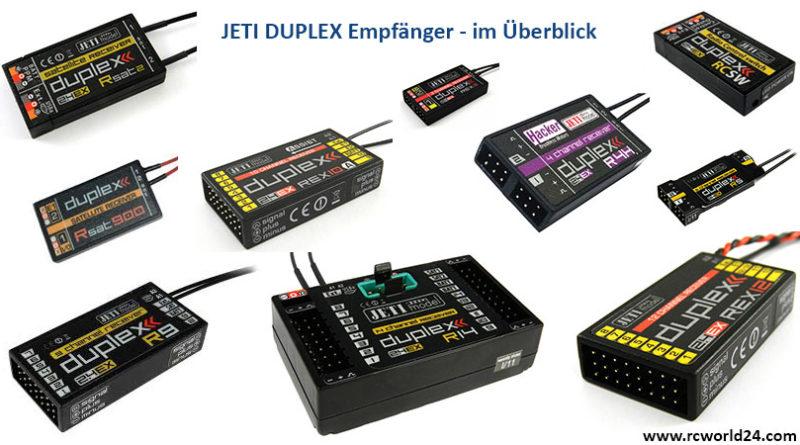 Unterschiede-Jeti-Duplex-Empfänger