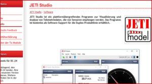 JETI Studio Software