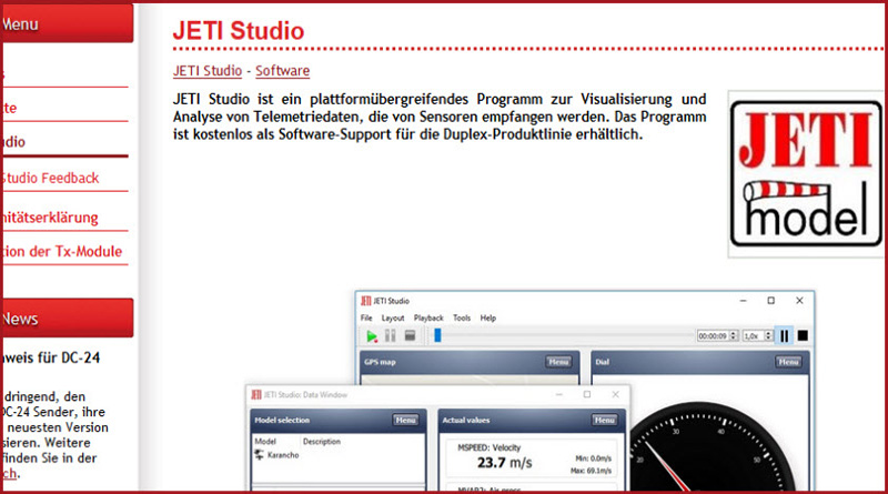 JETI Studio Software